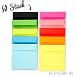 Farbige Briefumschläge, 16x16 cm, 80 g, 50 Stück sortiert