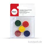 Farbtabletten für Wachs und Kerzengel, 5 Stück sortiert