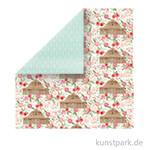 Farmhouse Market Scrappapier - Barn Floral