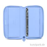 FILOFAX Terminplaner Saffiano - Vista Blue, Personal Compact Zip