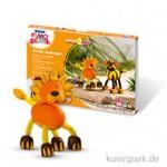 FIMO Kids Create & Play - Crazy Animals Set Löwe und Tiger