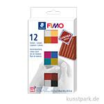 FIMO Leder Effekt - Set 12 halbe Blöcke