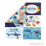 Fish Are Friends Scrappapier - 4x6 Journaling Cards