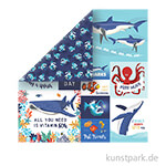 Fish Are Friends Scrappapier - Multi Journaling Cards