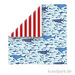 Fish Are Friends Scrappapier - Shark Swim
