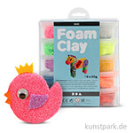 Foam Clay Basic Sortiment mit 10 Stück 35g