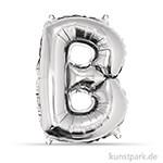 Folienballon Buchstabe - Silber, 40 cm einzel | B