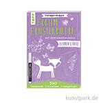 Folienfensterbilder mit Kreidemarker - Blumen und Tiere, TOPP