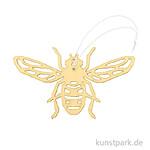 Gelbe Biene aus Holz mit Hänger, Breite 10 cm