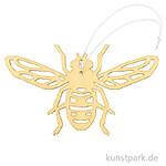 Gelbe Biene aus Holz mit Hänger, Breite 15 cm