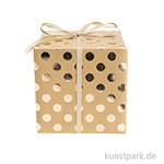 Geschenkpapier - Kraftpapier mit Gold Punkte