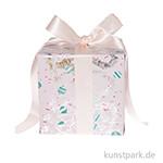 Geschenkpapier - Nostalgic Pastell, Rosa, Baumschmuck
