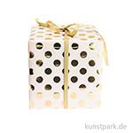Geschenkpapier - Rosa mit Gold Punkte