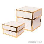 Geschenkschachtel Eckig - Rosa & Gold