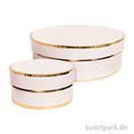 Geschenkschachtel Rund - Rosa & Gold