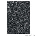 Glänzendes Papier - Schwarz mit Silberdruck, DIN A4, 80 g, 20 Blatt