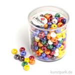 Glas-Großlochradl gemischte Farben, opak 55 g Dose | 5,4 mm