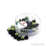Glas Schliffperle RADL irisierend - 6x3 mm 40 Stk. | Onyx