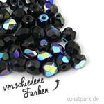 Glas Schliffperlen irisierend - 4 mm