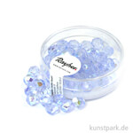 Glas Schliffperlen irisierend - 6 mm 50 Stk. | Aquamarin