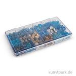 Glasperlen-Mix in Kunststoffbox, 240 g - Indisch Türkis