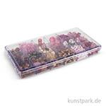 Glasperlen-Mix in Kunststoffbox, 240 g - Rosé