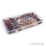 Glasperlen-Mix in Kunststoffbox, 240 g - Topas