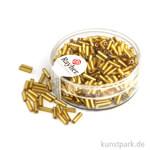 Glasstifte mit Silbereinzug - 7x2 mm 15 g Dose   Gold