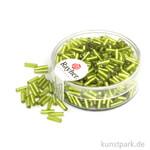 Glasstifte mit Silbereinzug - 7x2 mm 15 g Dose   Hellgrün