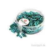 Glasstifte mit Silbereinzug - 7x2 mm 15 g Dose | Jade
