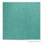 Glitter - Scrapbookingpapier, 200 g 30,5 x 30,5 cm | Taubenblau