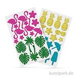 Glitter-Sticker aus Moosgummi - TROPIC