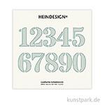 Grafische Schablonen 10er Set - Ziffern 1-0, Größe 62x74 mm