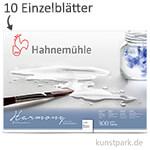 Hahnemühe HARMONY Aquarell Papier, 10 Einzelblatt, 300g - rau
