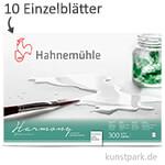 Hahnemühe HARMONY Aquarell Papier, 10 Einzelblatt, 300g - satiniert