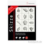 Hahnemühle 2 Skizzenblöcke DIN A4, 100 Blatt, 96g und 6 Bleistifte