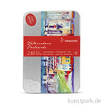 Hahnemühle Aquarellpostkarten in Metallbox, 30 Blatt, 230g, 10,5x14,8 cm - matt