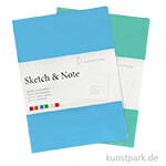 Hahnemühle SKETCH & NOTE, 20 Blatt, 125g, 2 Booklets, Blue