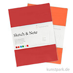 Hahnemühle SKETCH & NOTE, 20 Blatt, 125g, 2 Booklets, Red