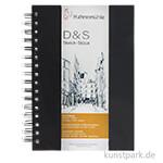 Hahnemühle Skizzenbuch D&S, 80 Seiten, 140g, schwarz, spiral