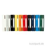 Heftstreifen aus Kunststoff - 10 Farben sortiert, 250 Stück