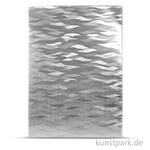Highlight-Papier silber Wellen, DIN A4, 220 g
