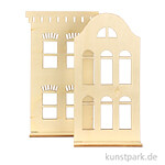 Historisches Haus aus Holz - 2 Stück