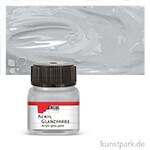 HOBBY LINE Acryl Glanzfarbe 20 ml | Silber