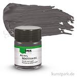 HOBBY LINE Acryl Mattfarbe 50 ml | Graphitgrau