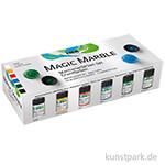 Magic Marble Marmorierfarbe Set Grundfarben 6x20 ml
