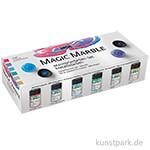 Hobby Line MAGIC MARBLE Marmorierfarbe Set - Metallic mit 6x20 ml