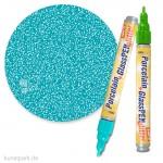 Hobby Line PORCELAIN + GLASS Pen 160°C - Glitter 1-3 mm | Türkis