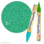 Hobby Line PORCELAIN + GLASS Pen 160°C - Glitter 1-3 mm | Hellgrün