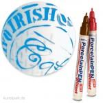 Glass & Porcelain Pen - Classic 2-4 mm | Hellblau
